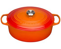 Le Creuset Bräter Signature oval 27cm, ofenrot