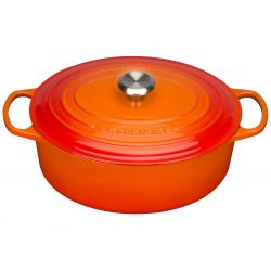 Le Creuset Bräter Signature oval 29cm, ofenrot