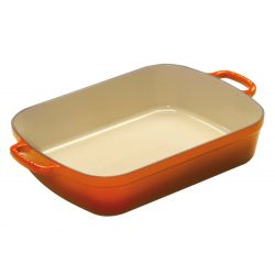 Le Creuset Bratreine Gusseisen 6,6l, ofenrot