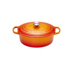 Le Creuset Gourmet-Bräter Signature 27cm oval, ofenrot