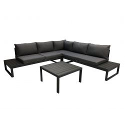 Lounge-Set, Aluminium anthrazit